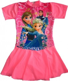 Baju Renang Rok -  Frozen Light Pink