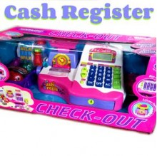 Cash Register Supermarket check-out Pink 33829