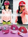 Butterfly Bordir Hello Kitty Cap