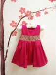 Dress Hot Pink List Gold